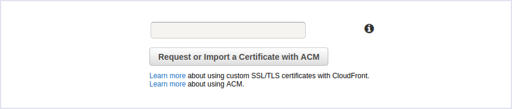 Getting a custom SSL certificate
