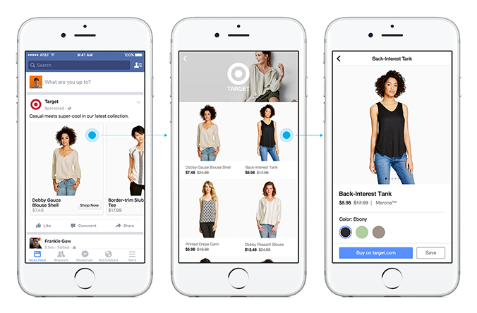 Facebook built-in shopping feature