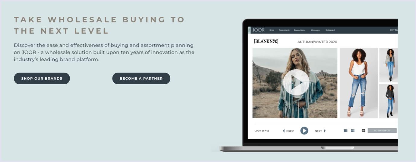 A fashion B2B marketplace Joor