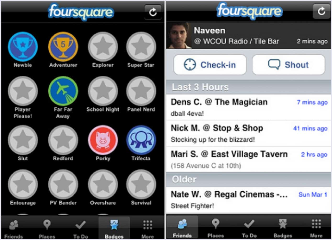 Example of a minimum viable product by Foursquare