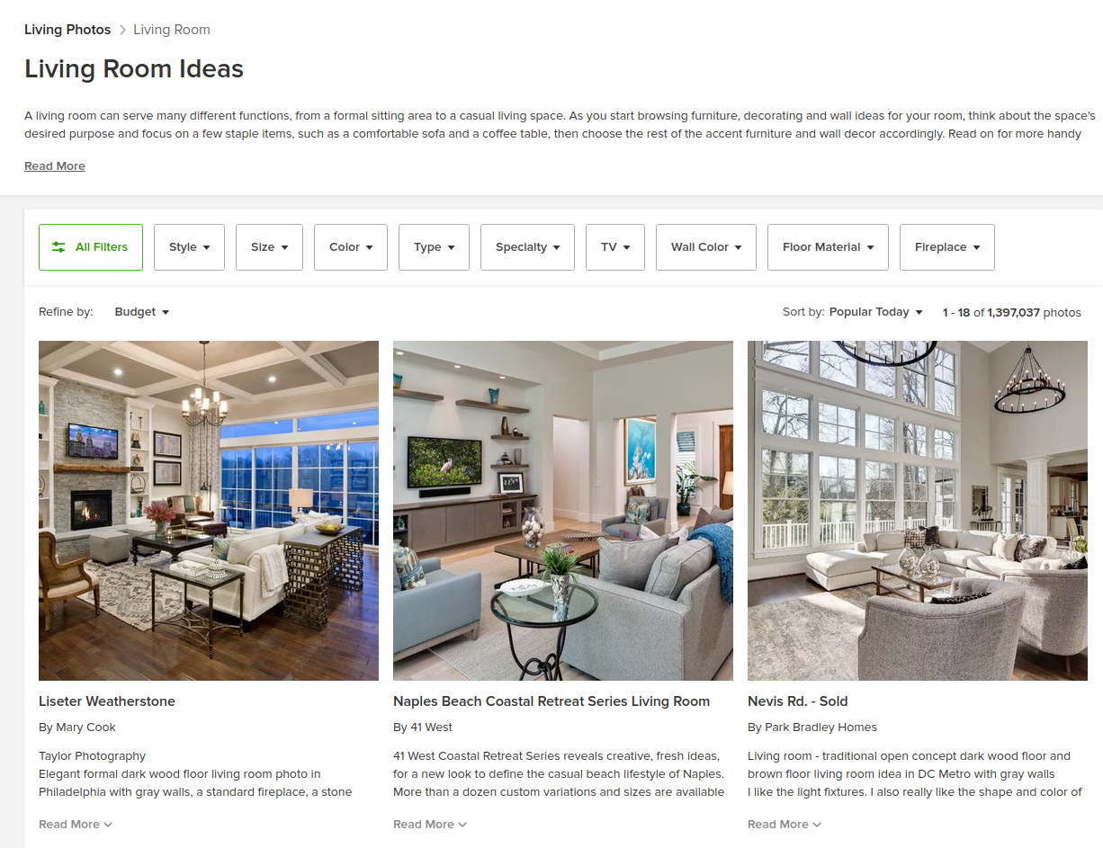 Ideas for a living room on Houzz | Codica