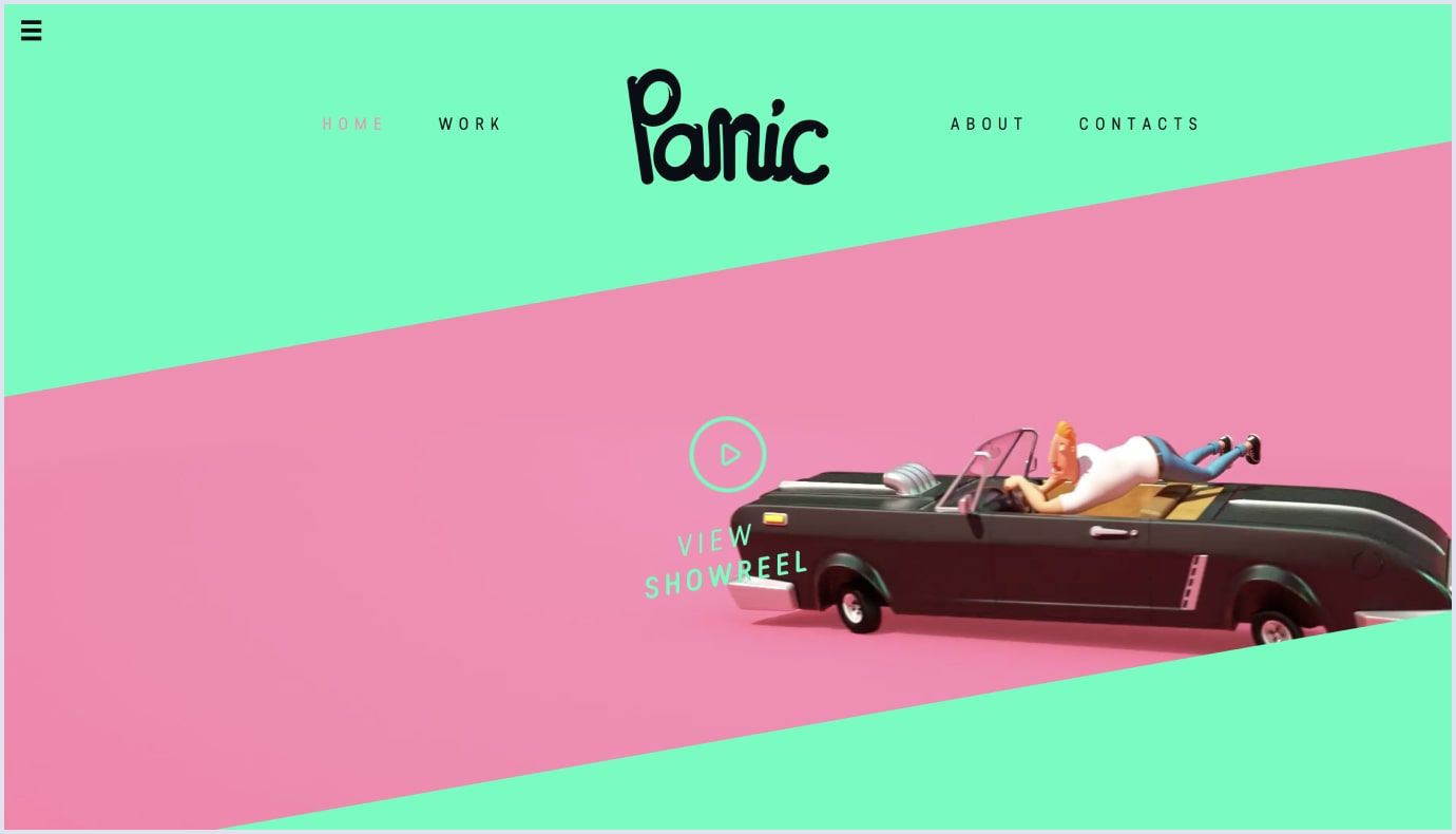 Colorful background as a web design by Panic