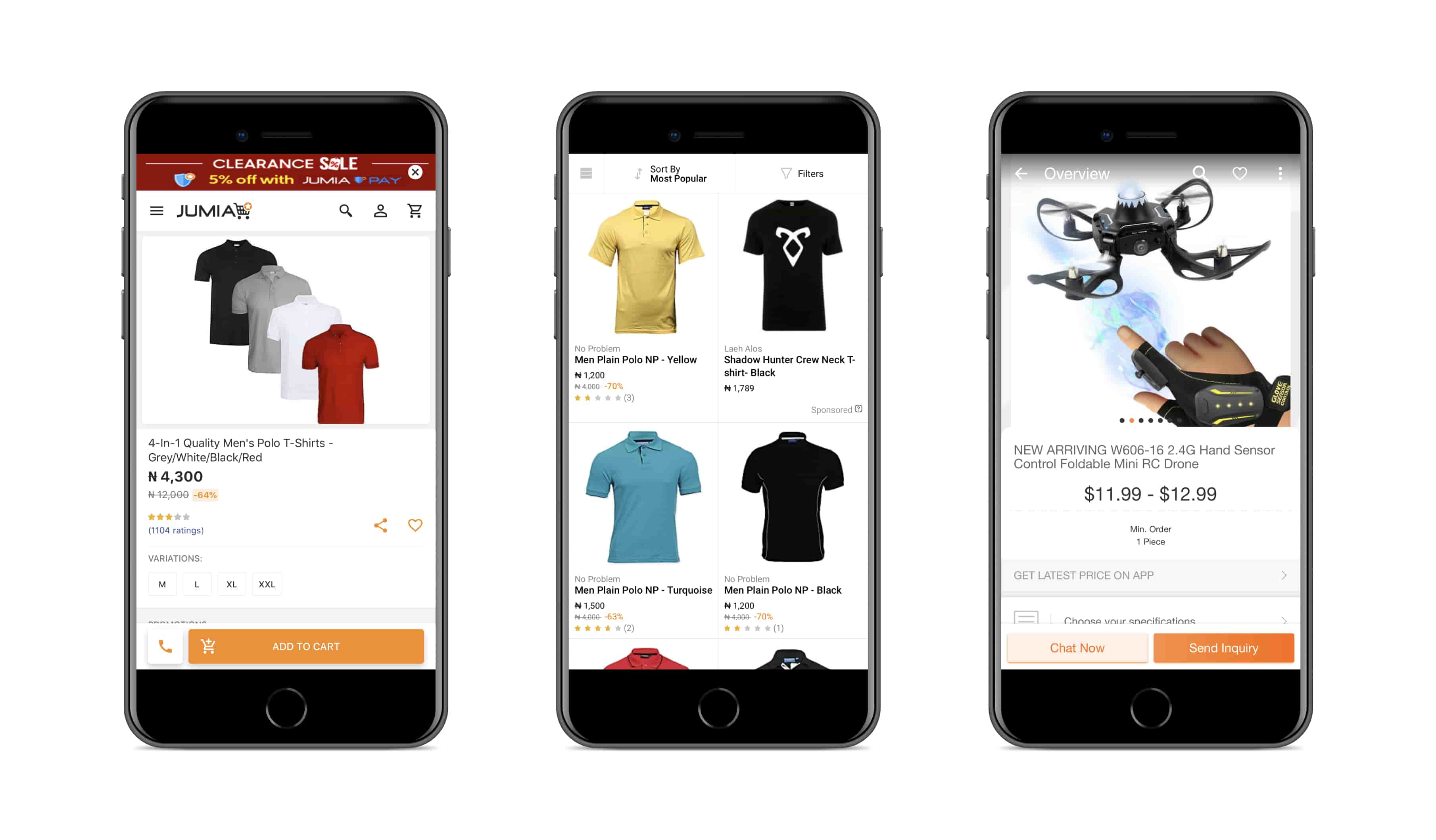 Progressive web app by Jumia | Codica