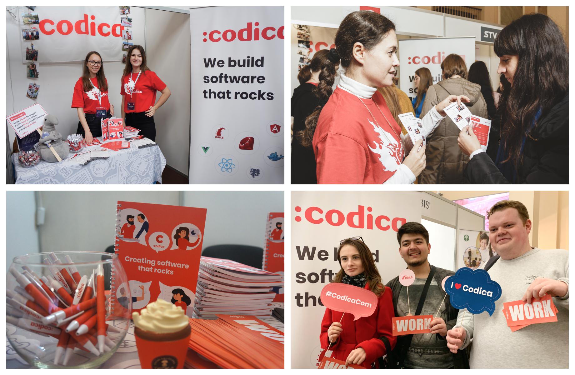 Codica team at a job fair