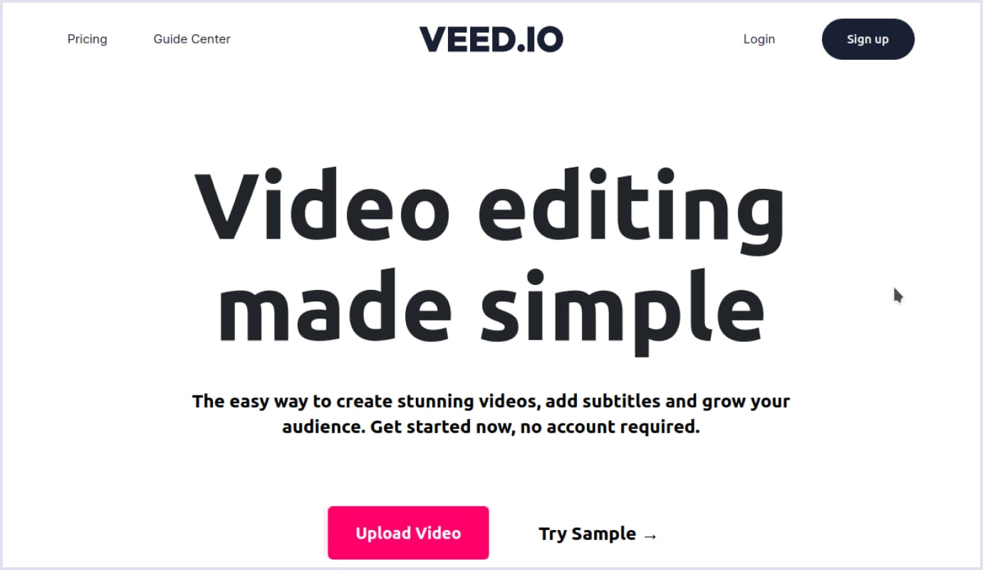 Video editing SaaS startup
