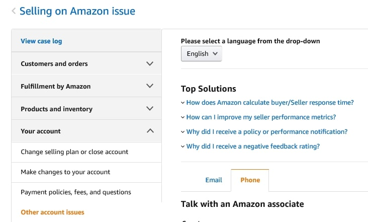 Seller support center to attract sellers by Amazon