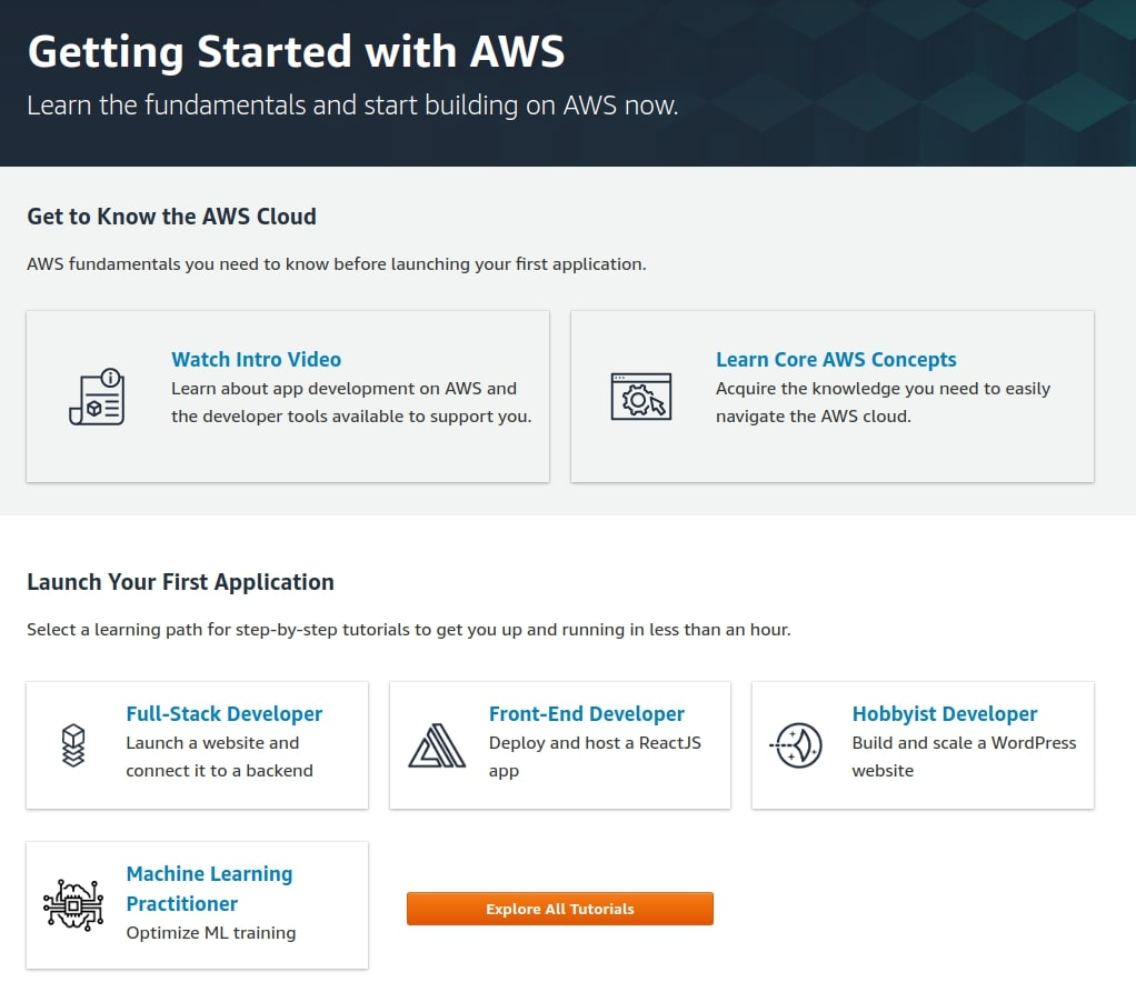 Overview of the cloud platform AWS