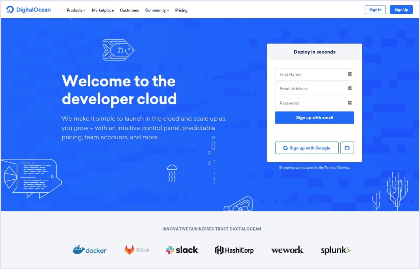DigitalOcean cloud hosting | Codica