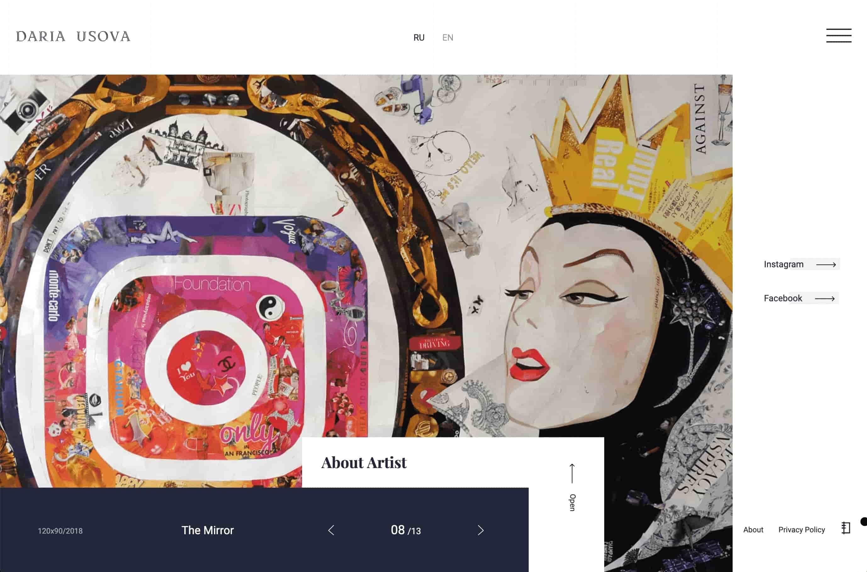 Hot web design trends: Overlapping elements by Daria Usova | Codica