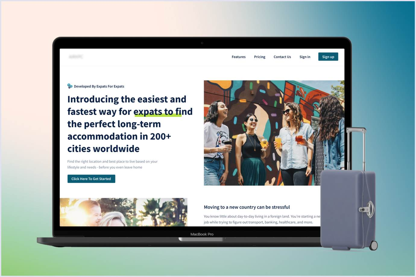 SaaS minimum viable product of accommodation search for expats