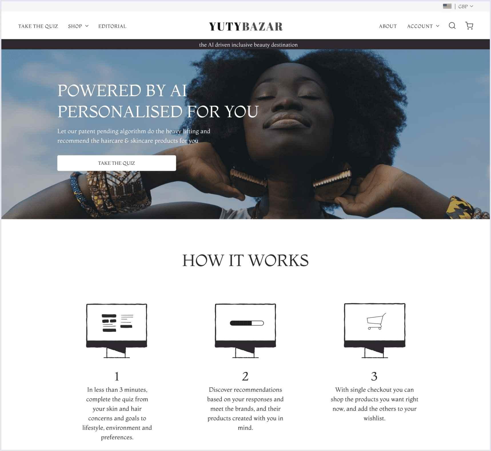 e-commerce site on spree YutyBazar | Codica