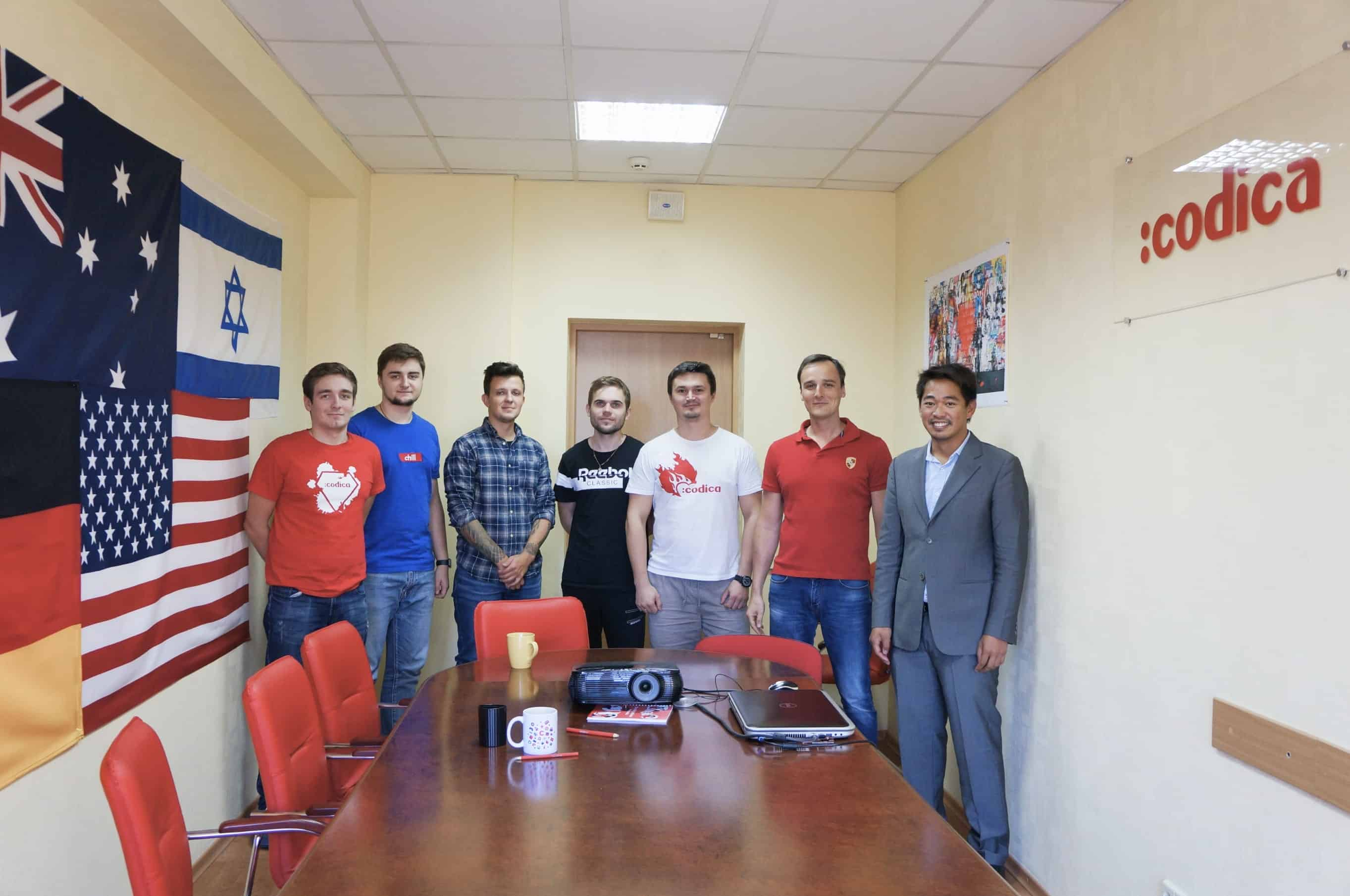 Codica team welcomes our customer at the office