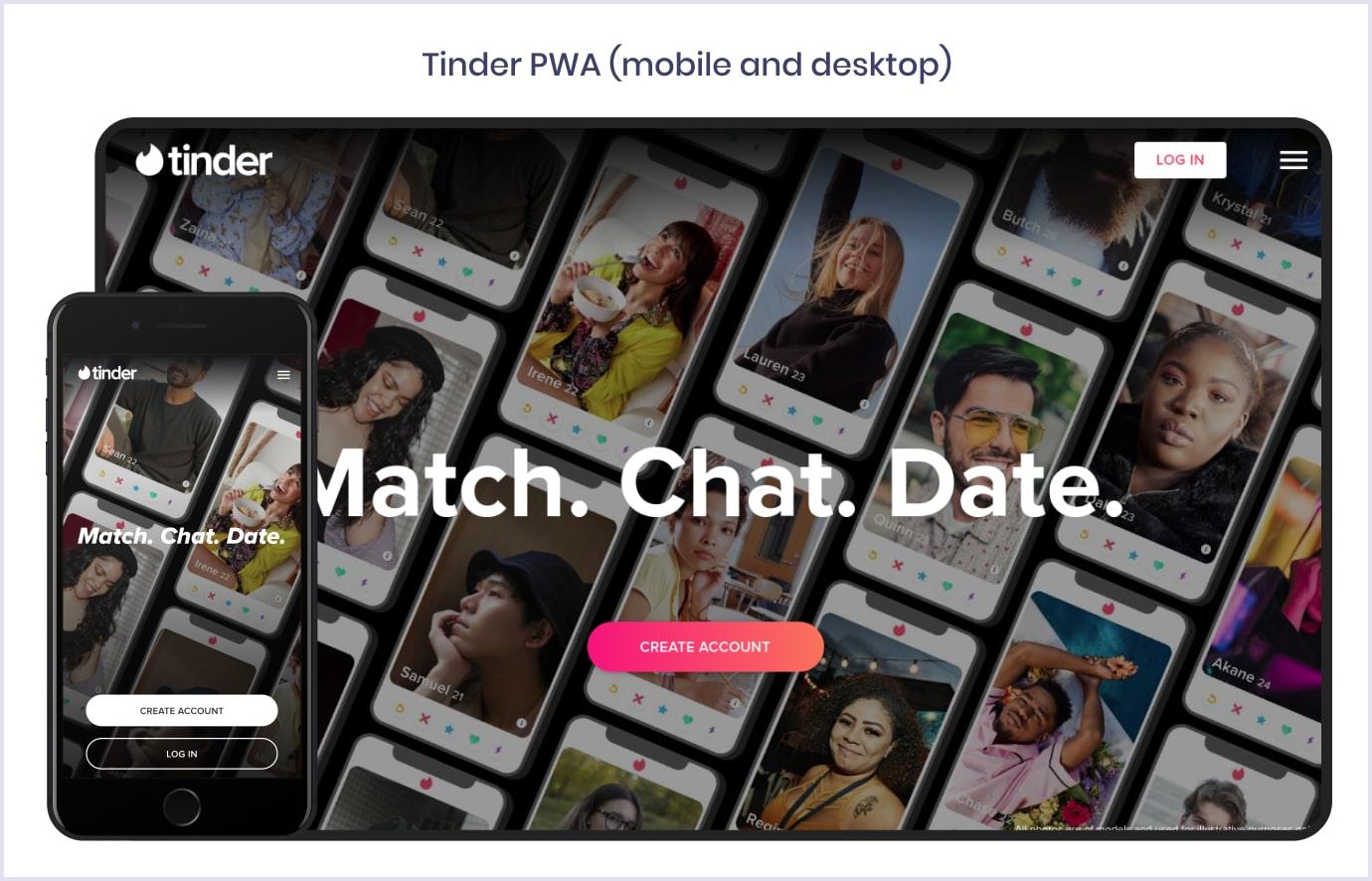 Progressive web app by Tinder | Codica