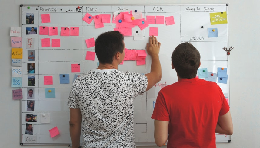 Agile development approach : Scrum task board | Codica
