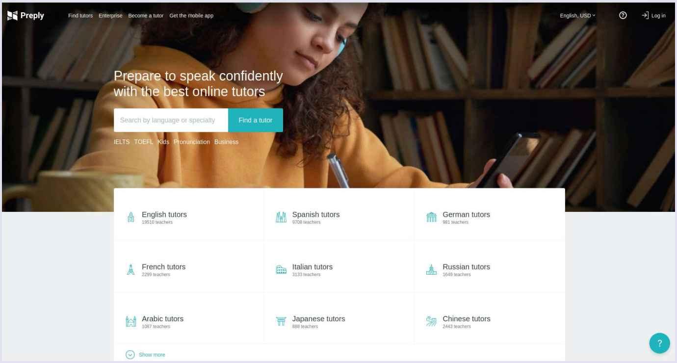 C2C marketplace with online tutors