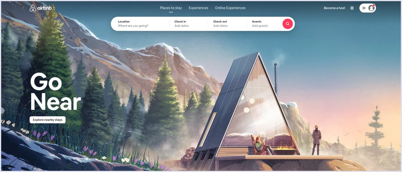 Vertical marketplace example: Airbnb