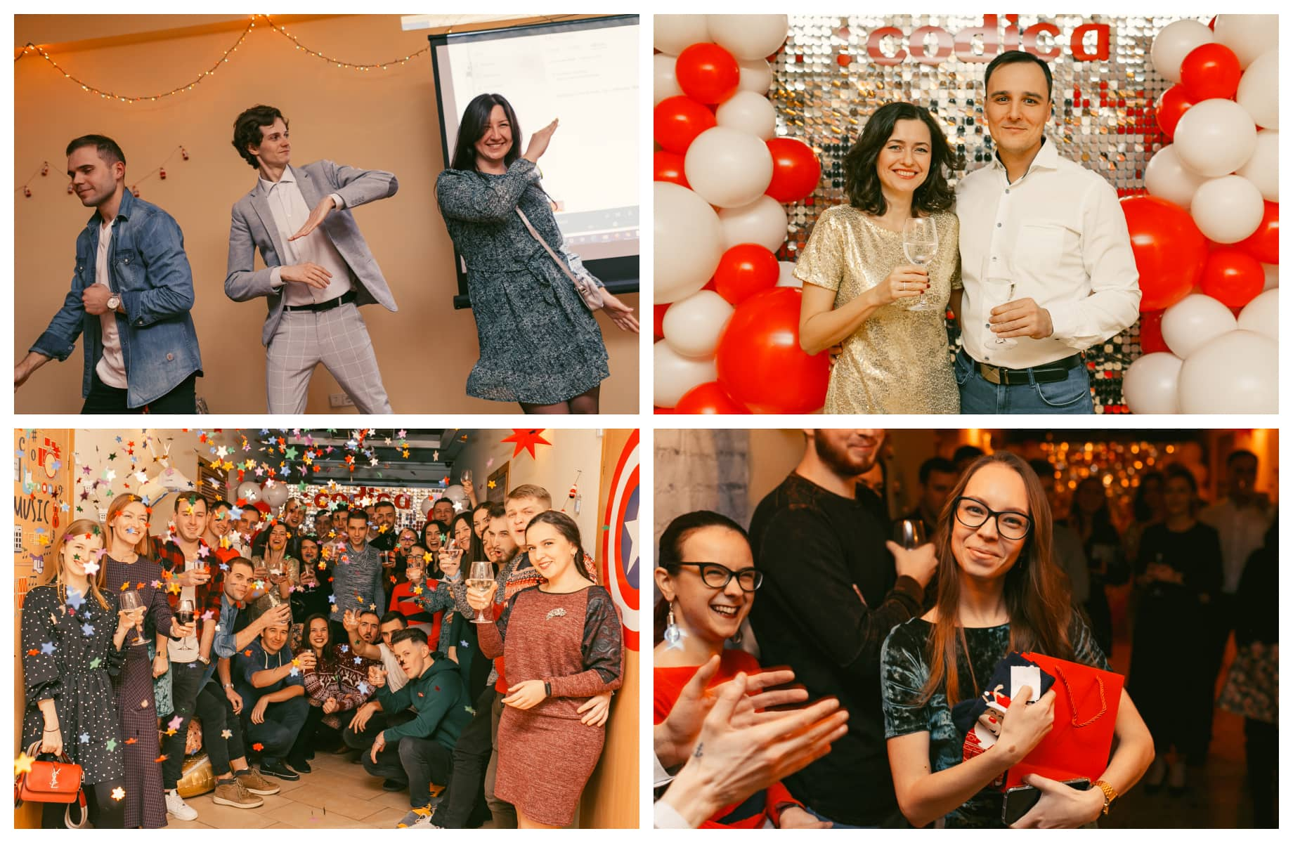 Codica software development team holds a New Year's party
