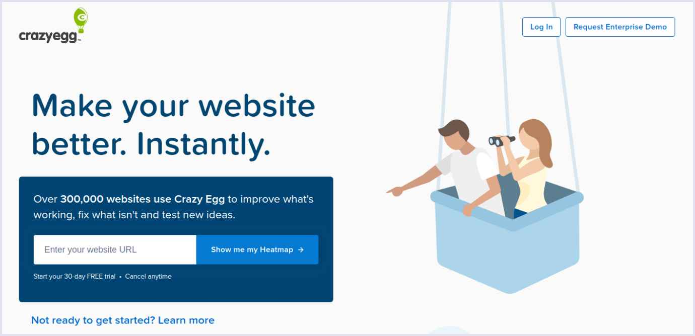 A value proposition created by B2B brand CrazyEgg