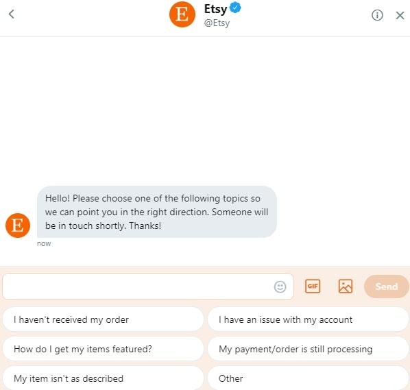 Etsy chatbot