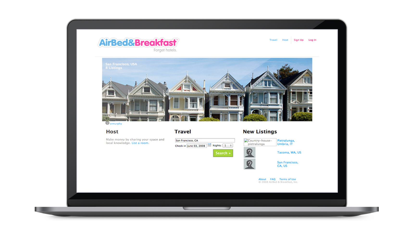 Airbnb first website | Codica
