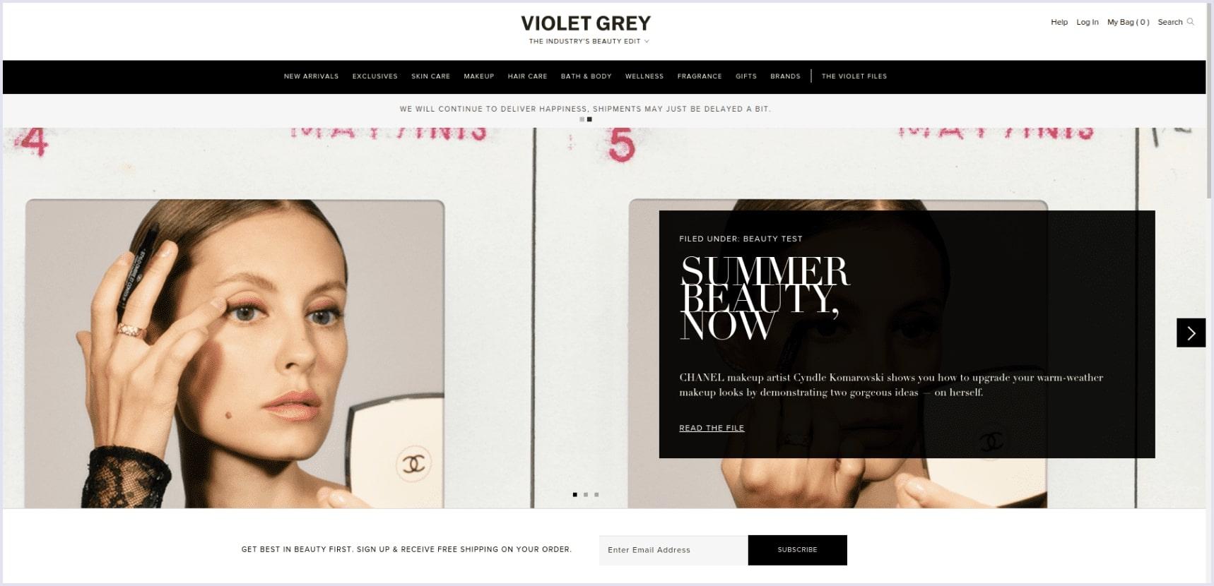 e-commerce site on spree Violet grey | Codica