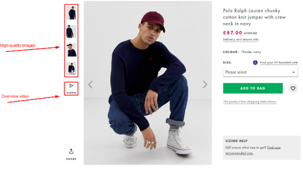 High-quality images as a key marketplace feature on Asos   Codica
