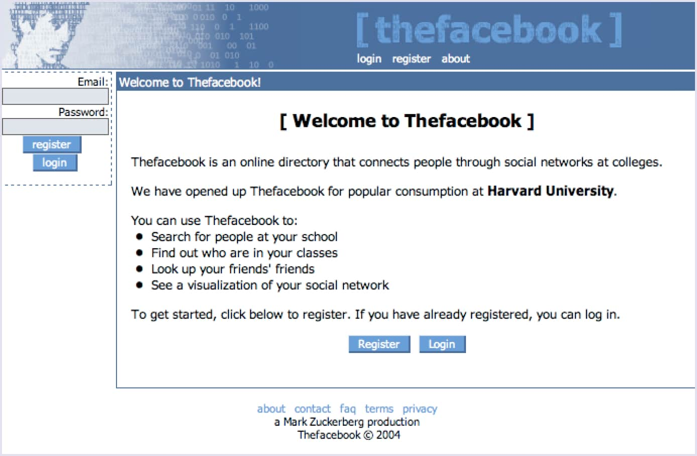 Example of a minimum viable product by Facebook