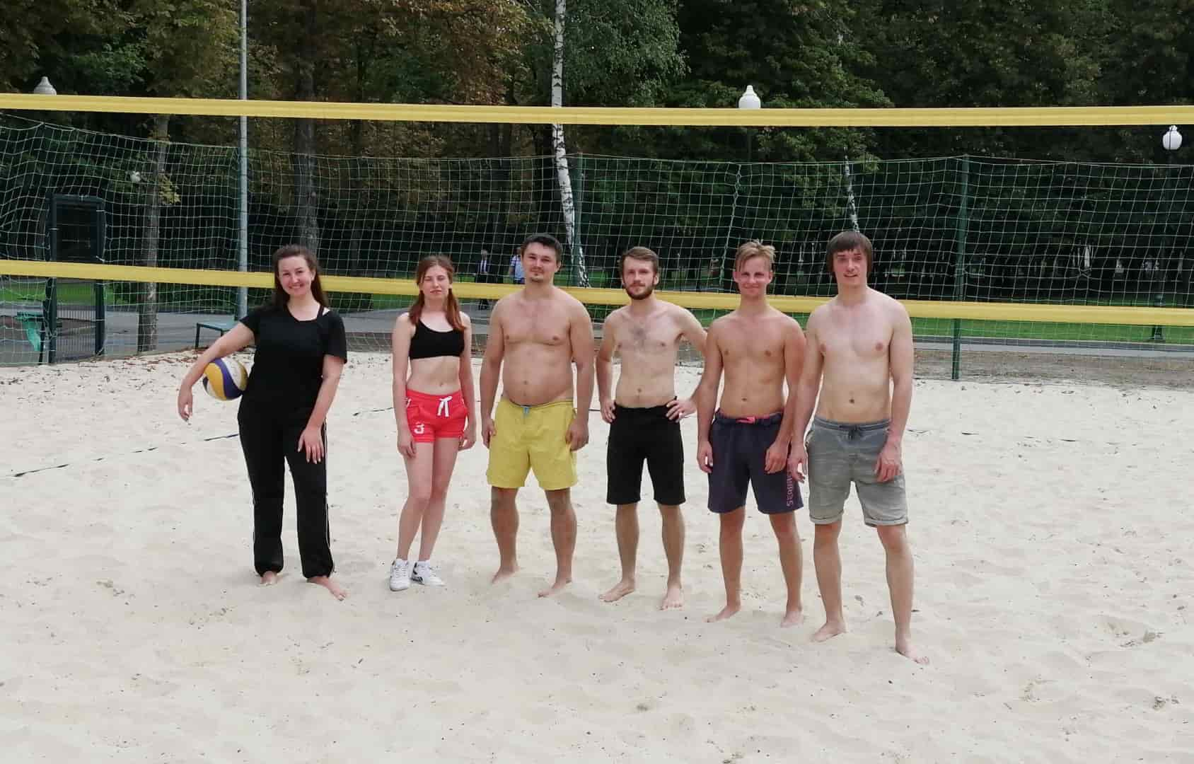 Codica team played beach volleyball
