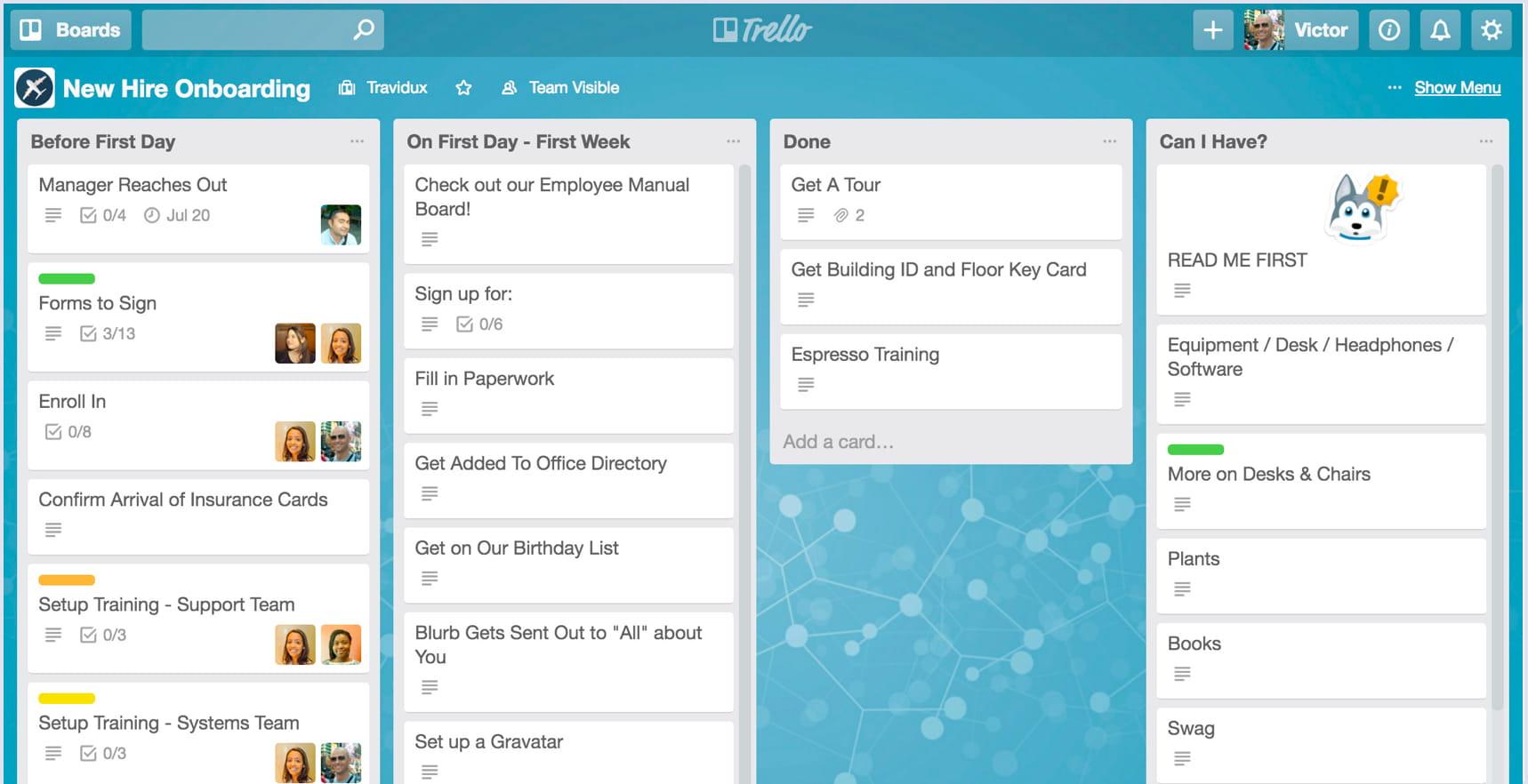 Trello screenshot on desktop   Codica