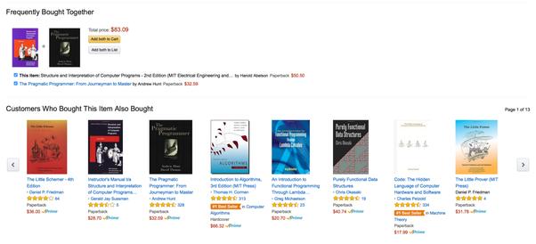 Amazon marketplace personalization system