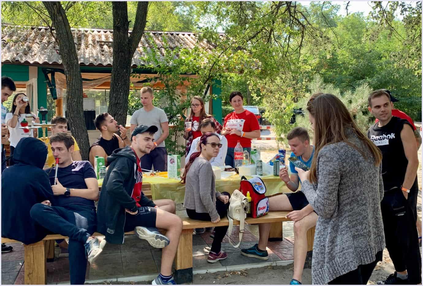 Codica software development team at the picnic
