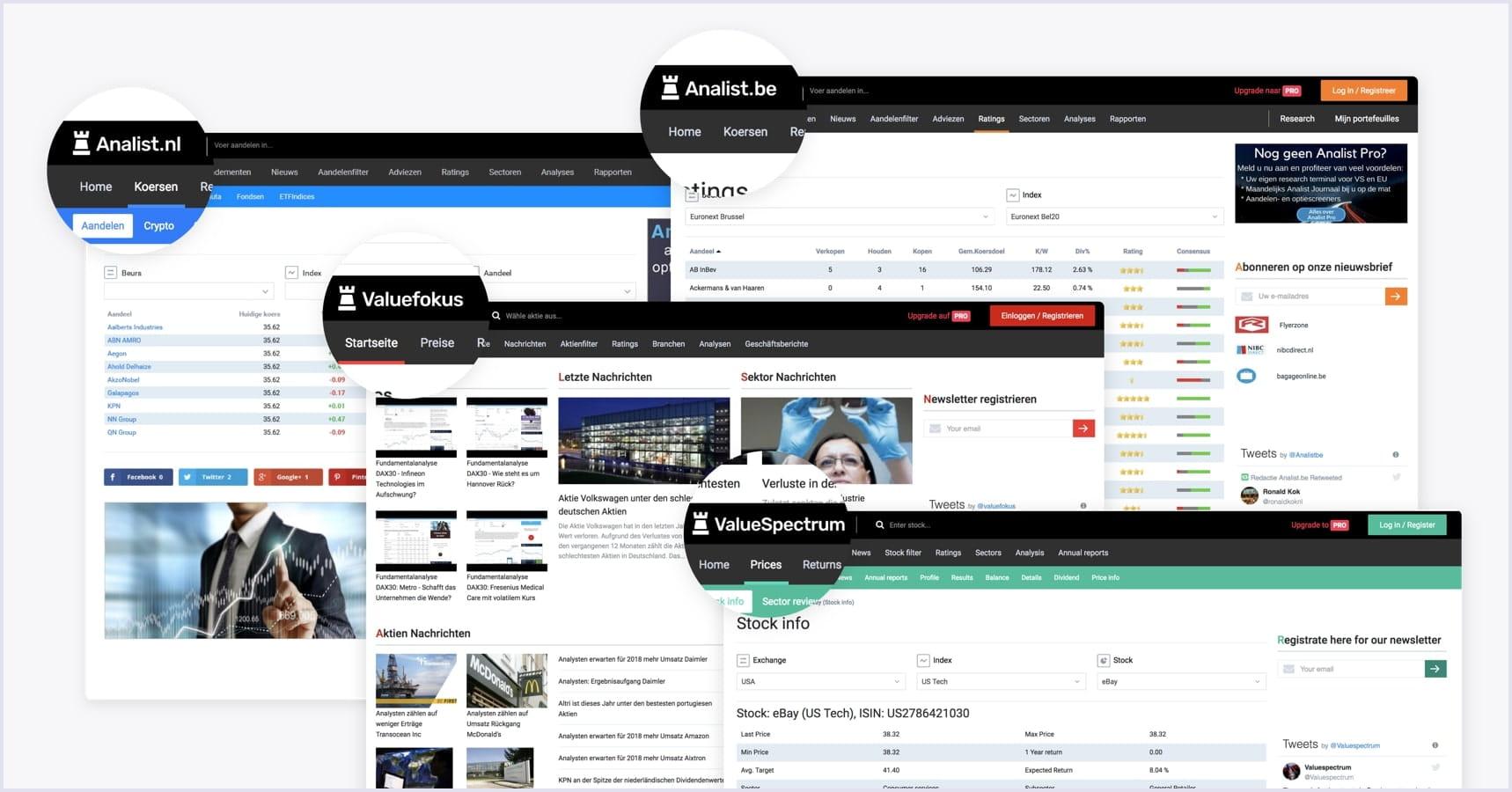 Finance analytics platform screenshot | Codica