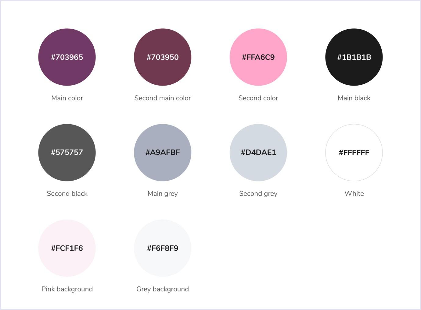 Color palette for online marketplace for kids PlanMyKids