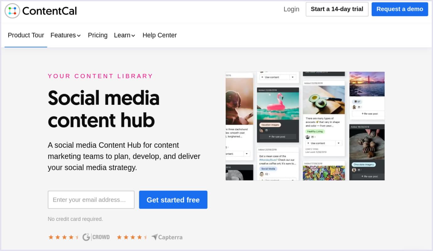 SaaS application for social media management