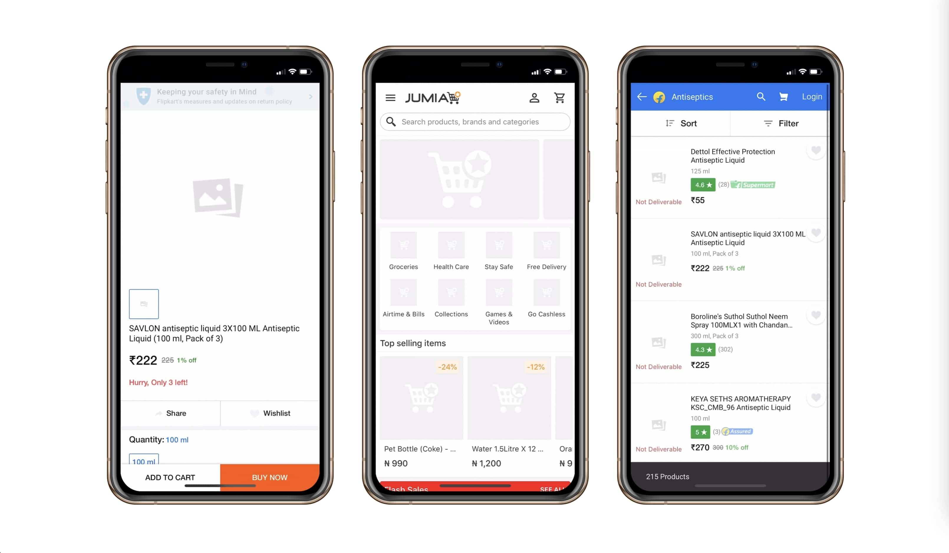 Progressive Web App design by Jumia  | Codica