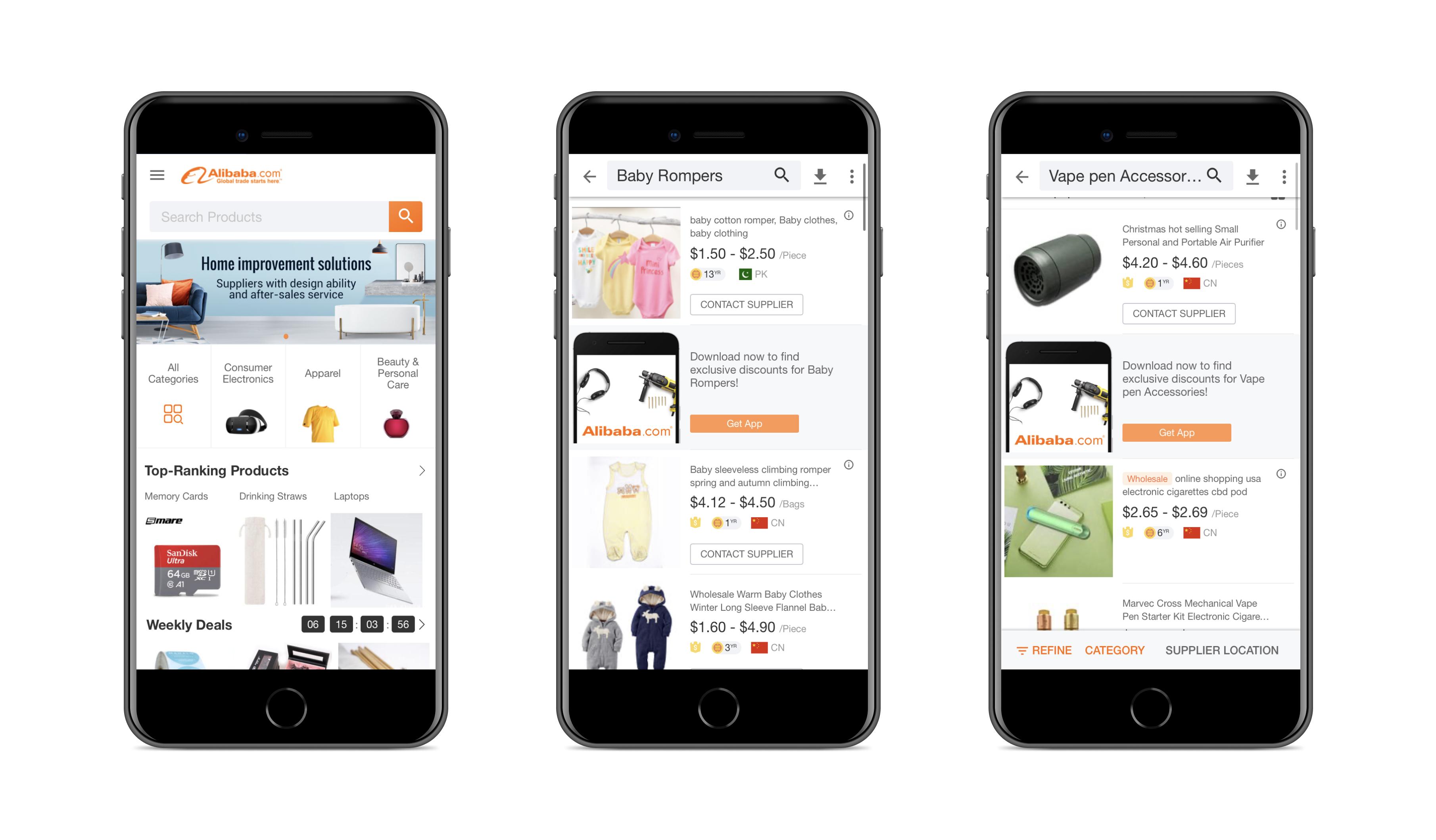 Progressive web app by Alibaba    Codica