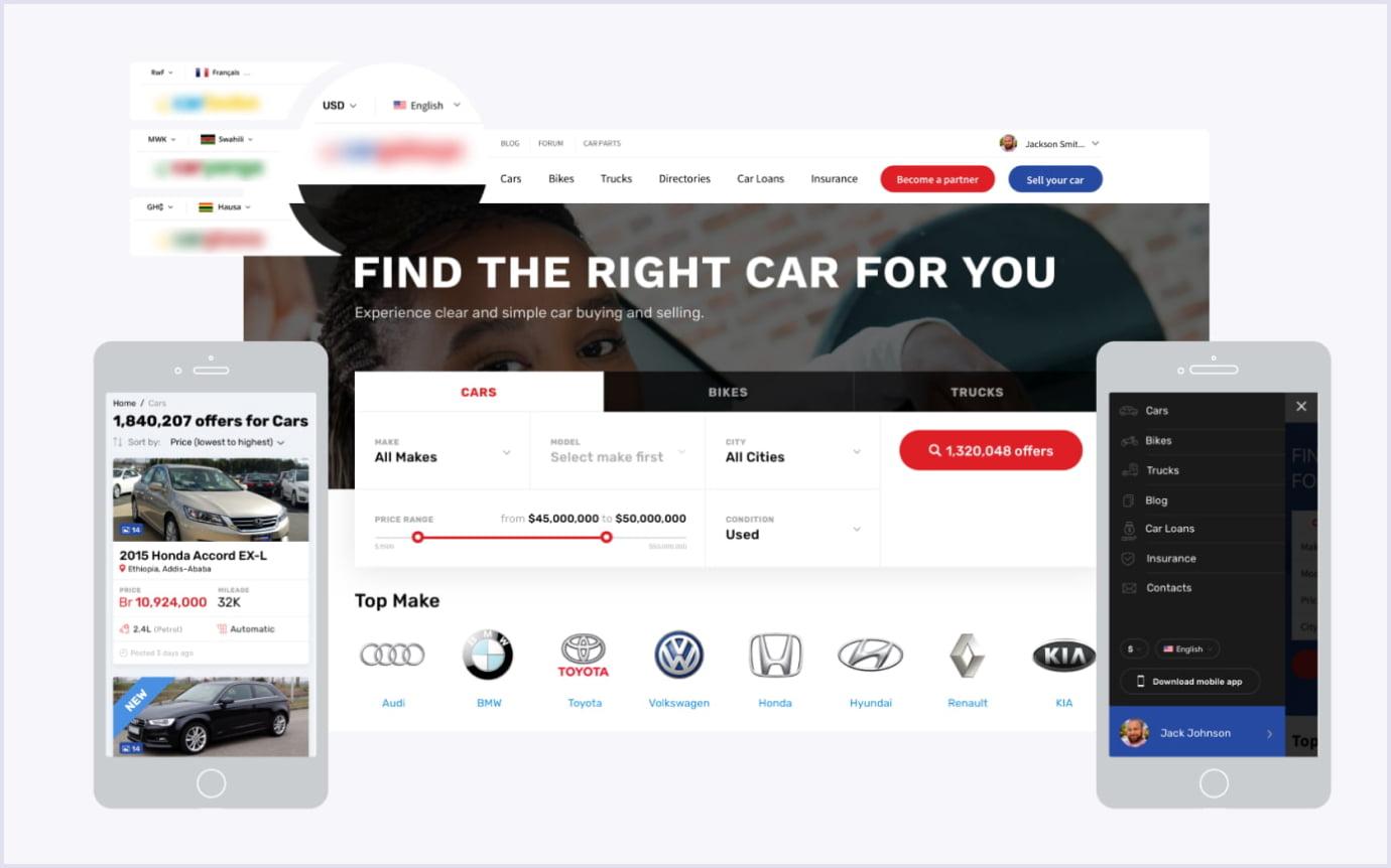 Multivendor vehicle marketplace platform