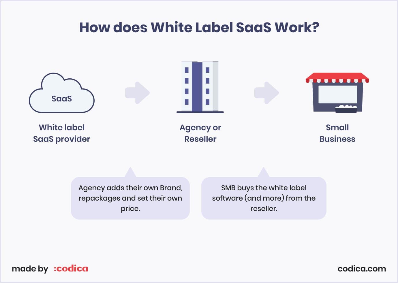 Principle behind white-labeling in SaaS