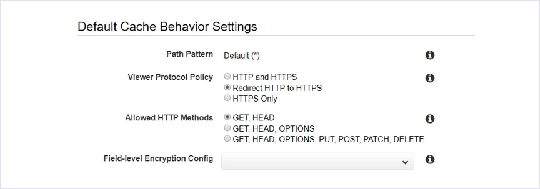 Choosing HTTPS for viewer protocol policy to serve a website over SSL