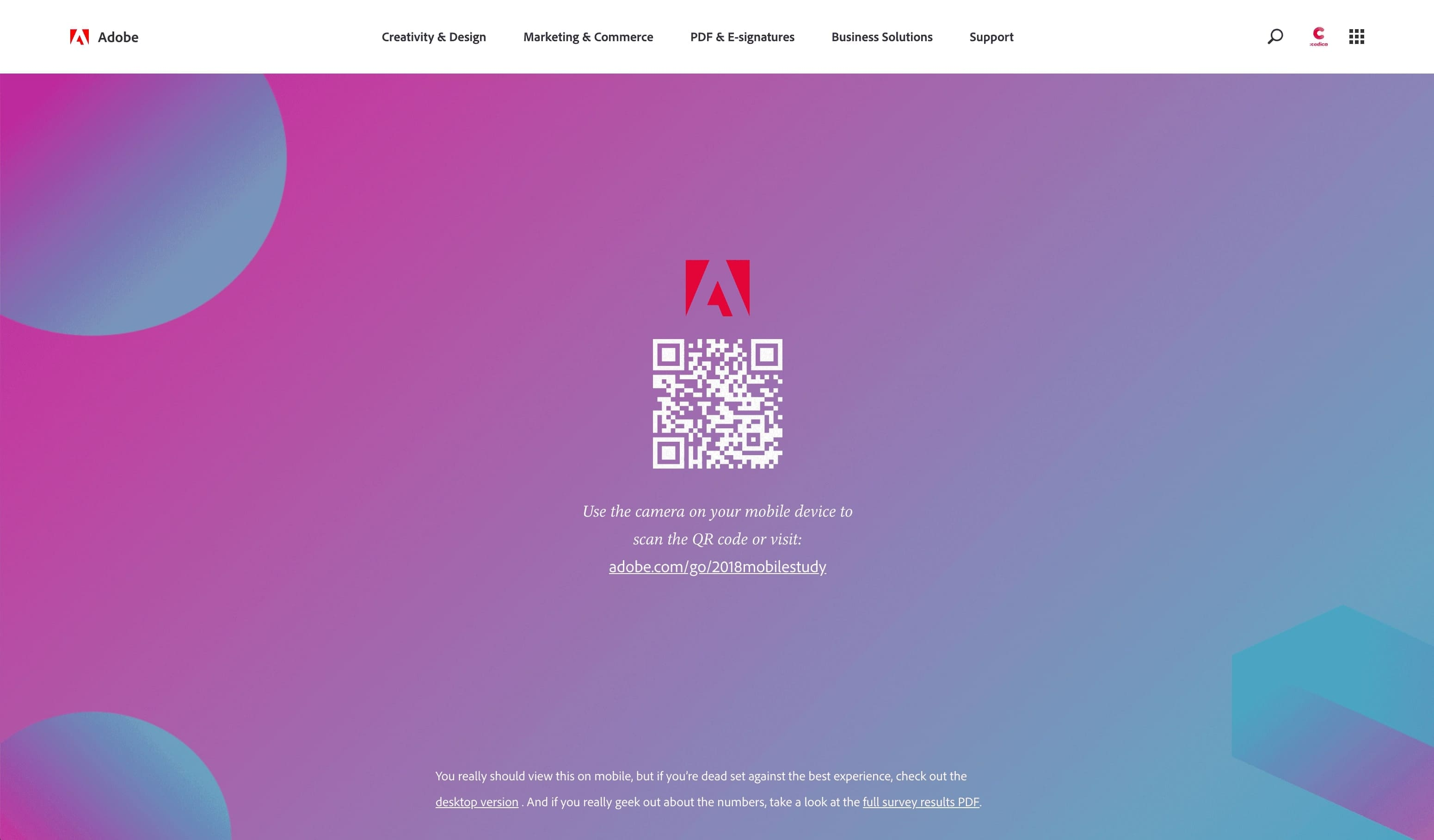 Hot web design trends: Mobile-first design, Adobe | Codica