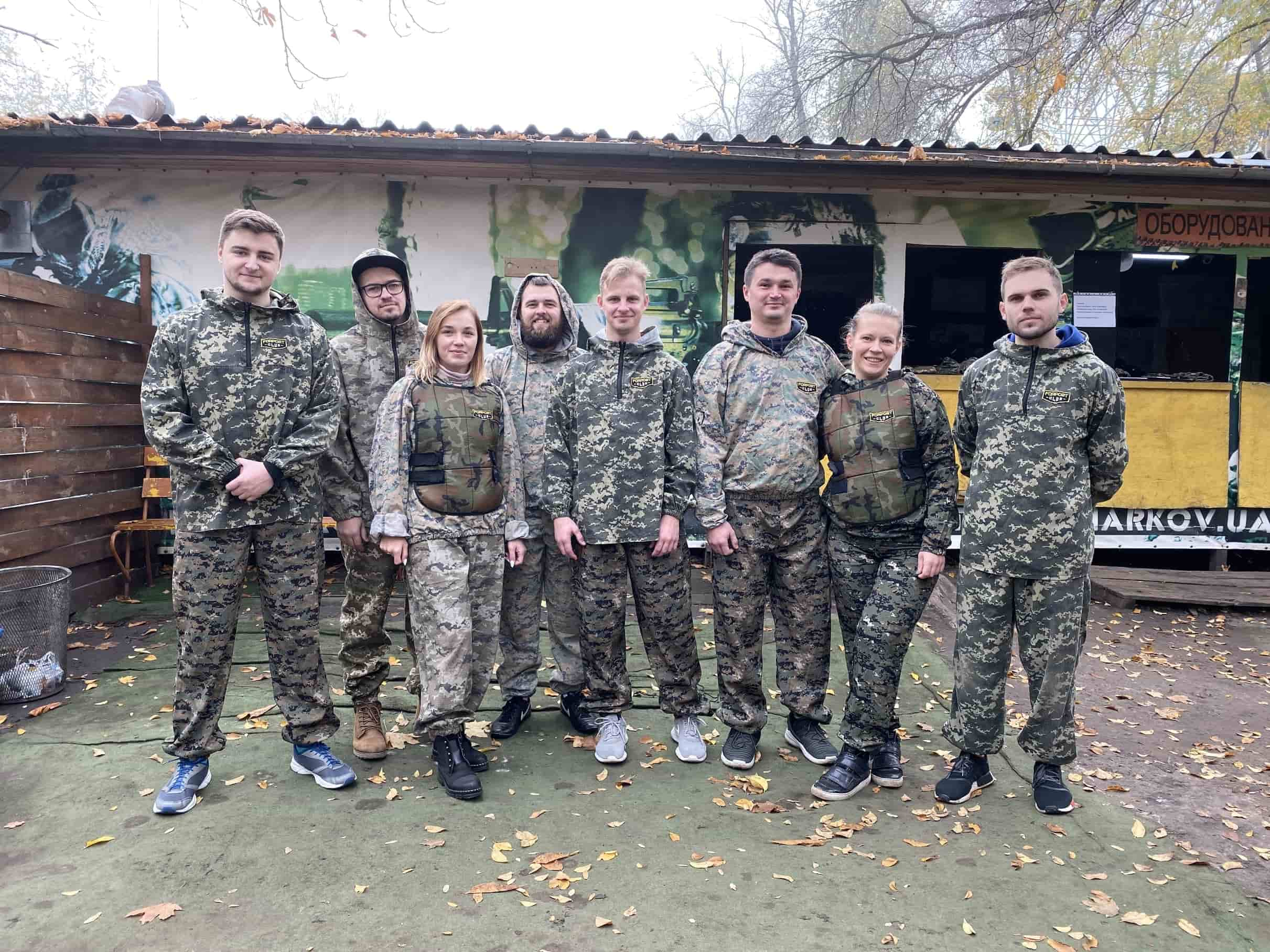 Codica team played paintball