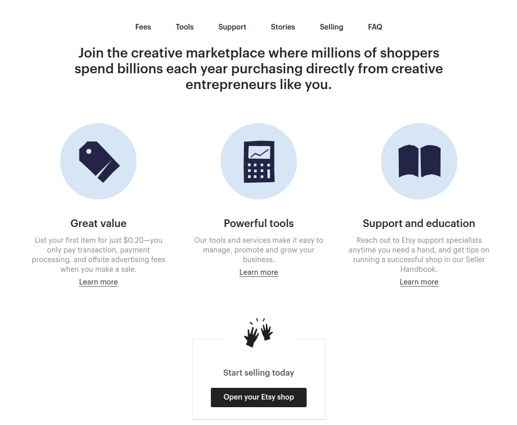 Onboarding marketplace feature for sellers on Etsy | Codica