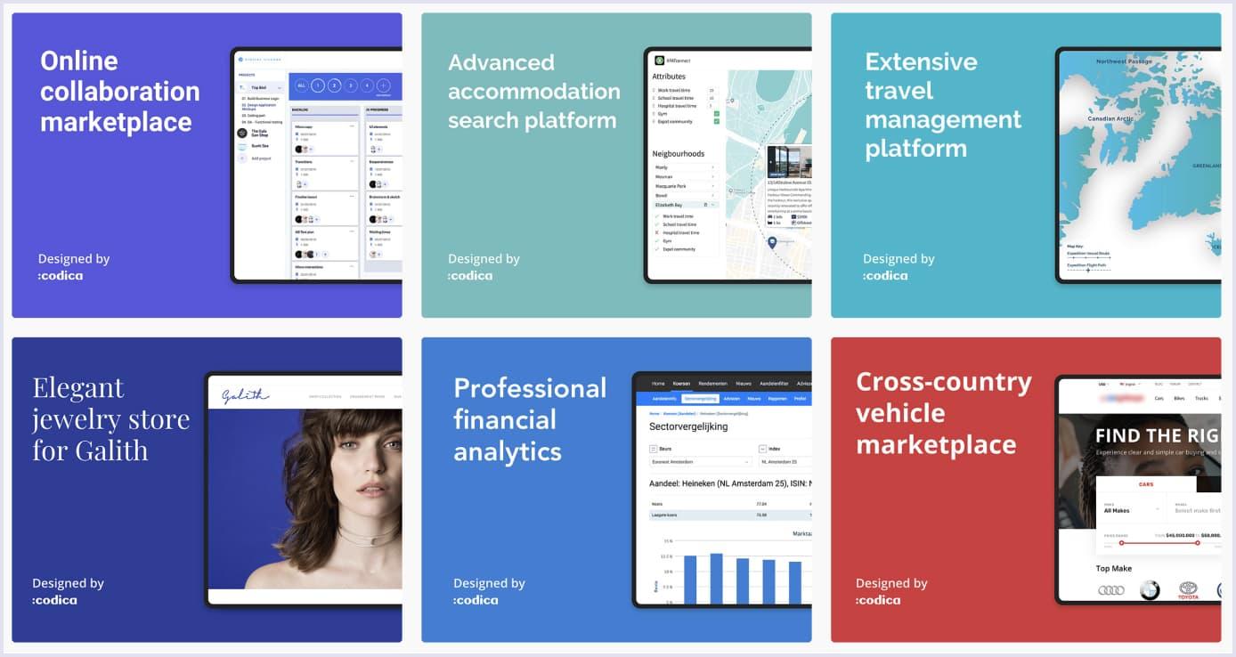 Our portfolio on Behance | Codica