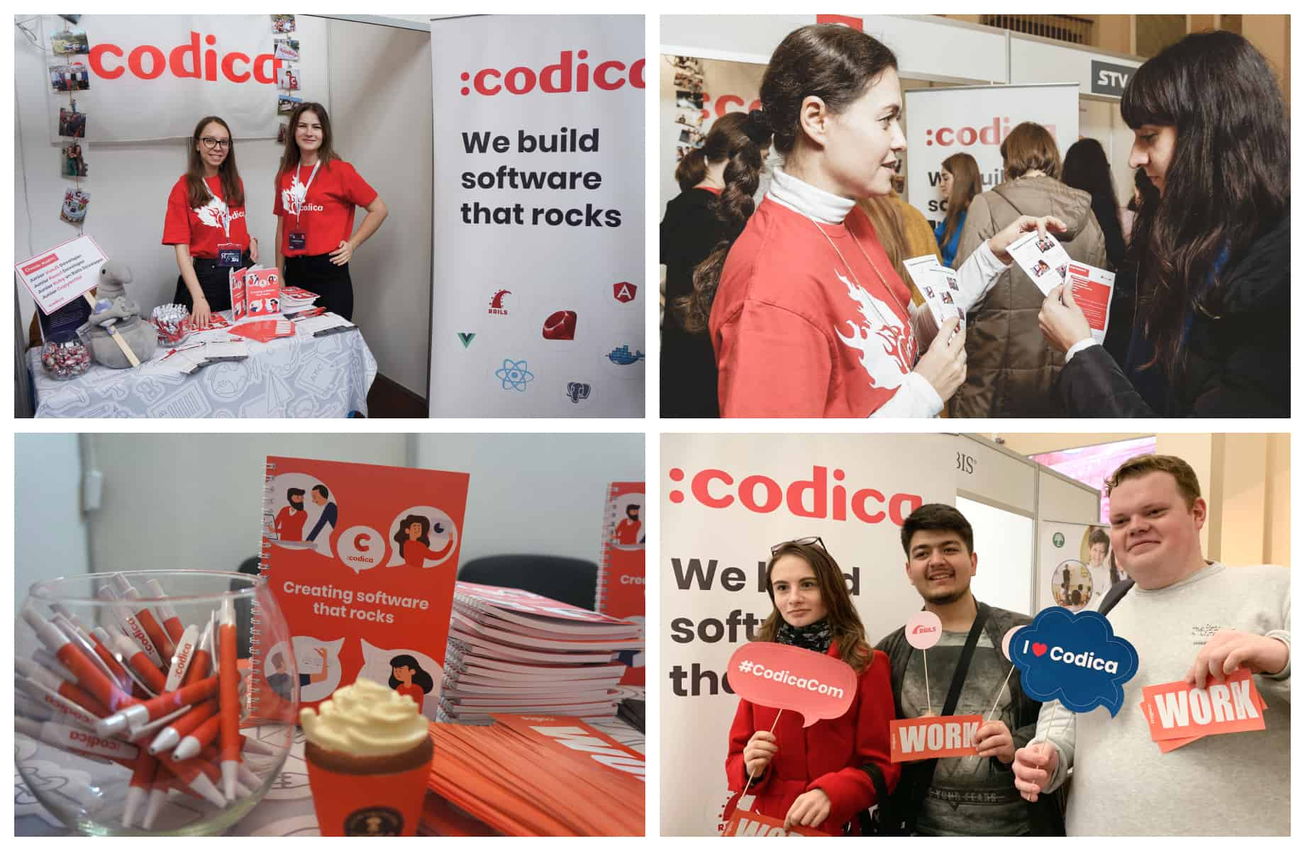 Codica team at a job fair
