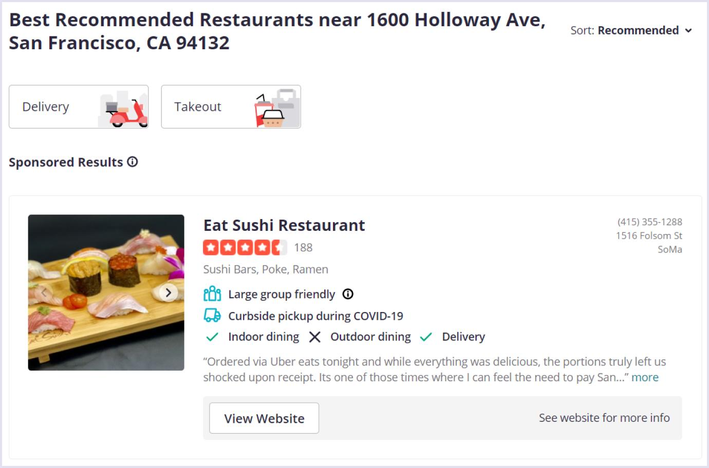 Useful tips for a website like Yelp