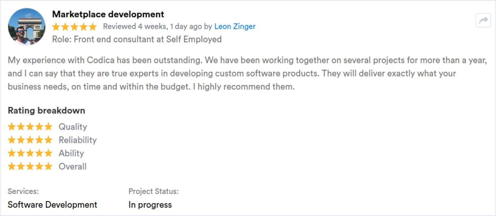 Client review | Codica