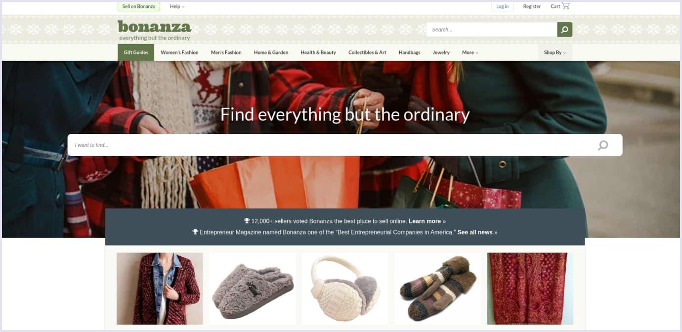 B2C marketplace example: Bonanza
