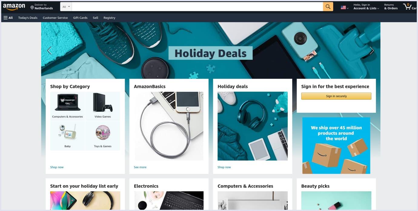 Horizontal marketplace example: Amazon